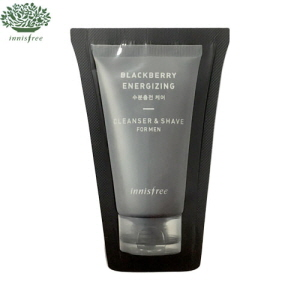 [mini] Innisfree Blackberry Energizing Cleanser & Shave for Man 3ml*10ea, INNISFREE